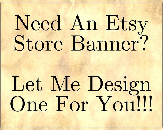 Etsy Store banner design
