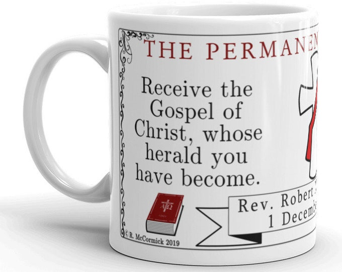 Permanent Diaconate Personalized Mug (See notes on personalization.)