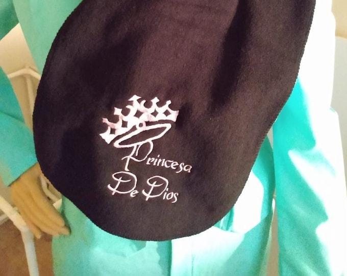 Princesa De Dios embroidered extra long fleece scarf