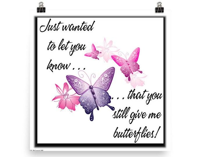 Butterflies (24x24 Poster)