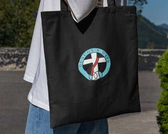 Deacon's Wife Logo Black Embroidered Tote