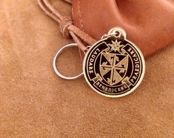 Ordo Praedicatorum Gold Mirrored Acrylic keychain