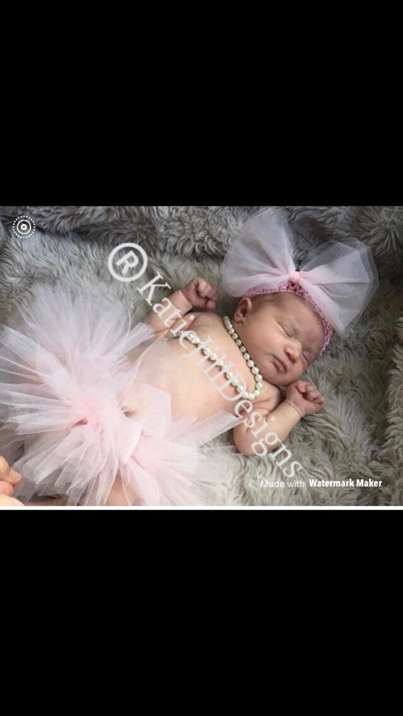 Newborn tutu with headband