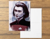 Ro Laren A6 Star Trek inspired Postcard