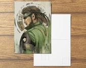 Big Boss A6 Postcard Metal Gear Solid Inspired