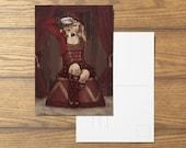 Ringmistress A4 Burlesque Inspired Postcard