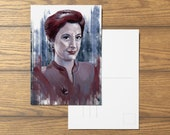 Kira Nerys A6 Star Trek Inspired Postcard