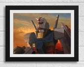 Sunrise RX-78 A4 Gundam Art Print Mecha Robot