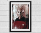 Jean-Luc Picard A3 Star Trek Inspired Art Print