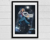 Space Jump A3 Doctor Who Inspired Art Print
