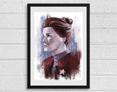Captain Kathryn Janeway A3 Star Trek Inspired Art Print