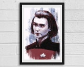Ro Laren A3 Star Trek Inspired Unframed Art Print