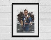 Heartman A4 Death Stranding Inspired Digital Art Print