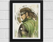 Big Boss Metal Gear Solid Inspired Art Print