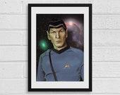 Mr Spock A4 Star Trek Inspired Art Print
