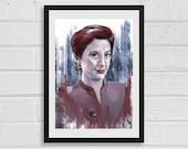Kira Nerys A3 Star Trek Inspired Unframed Art Print