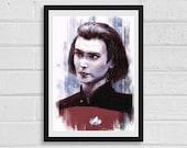 Ro Laren A4 Star Trek Inspired Unframed Art Print
