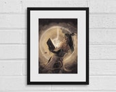 Tiefling Mage A4 Fantasy Digital Art Print