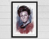 Lt. Uhura A3 Art Print Star Trek Inspired