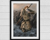 Anders A3 Dragon Age Inspired Art Print