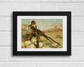 Sniper Quiet A3 Metal Gear Solid V Inspired Unframed Art Print