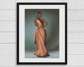 Vivienne A3 Dragon Age Inspired Unframed Art Print