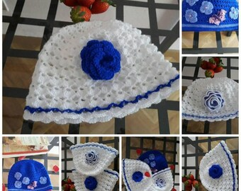 82b43f9e18937 Gorros para niñas en ganchillo gorros con rositas regalos bonitos para  fiestas baby shower regalos para primer aniversario gorros tejidos