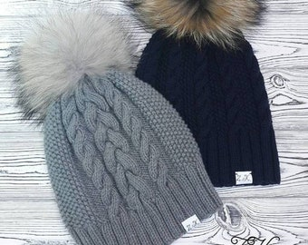 Gorro de lana para niñas tejido manual gorros hipster tejidos gorros  invierno regalo navidad 074809d02e8
