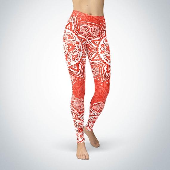 Red Mandala Leggings