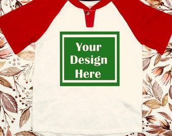 Download Free Blank Reglan Blank Mock up / Red Reglan / Cat Jack / Template / Flat Lay / Styled shirt / Floral background / Children's Mockups PSD Template