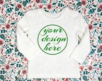 a7573bdc0 Blank White Long Sleeve Shirt Mockup / Mockup / Children's Mockups / Floral  / Birds /