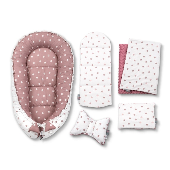 Baby Nest Baby Shower Gift 5 Elements High-Quality Baby Cushion Black Dotty Pod