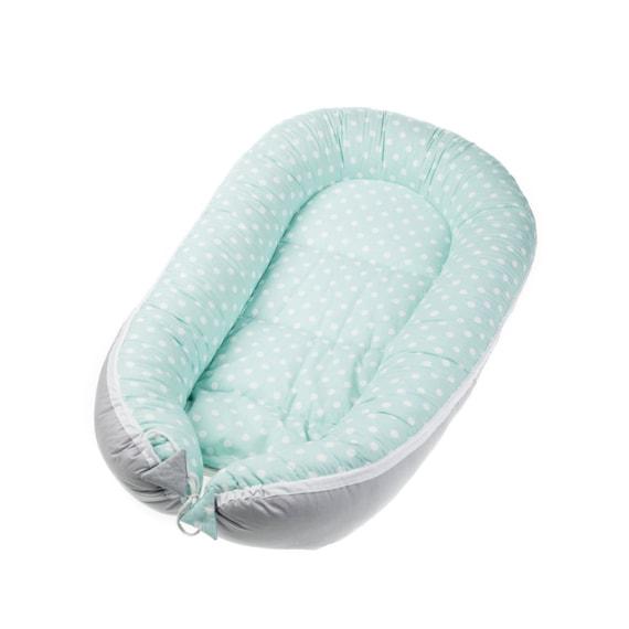 Mint Garden Newborn Baby Nest Cocoon Long Nest Cushion Breathable
