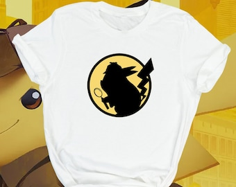 2cebfa5f6 Detective Pikachu T-Shirt Pokemon Gift For Gamer Tee, Unisex Gamers Merch  Kids Youth