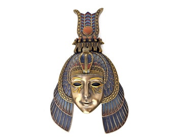 4ae3c4ddb17 Cleopatra Mask - Art Deco Egyptian Queen Cleopatra Wall Mask with  Hand-painted detail