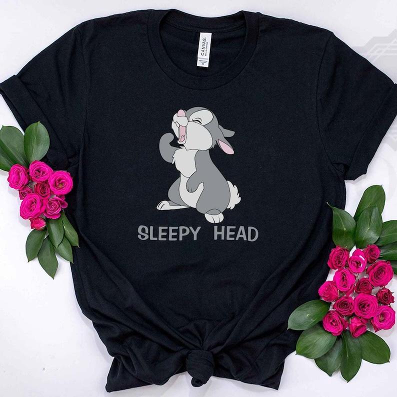 Disneyland Shirt Disney Gift Sleepy Head Disney Rabbit Tank Top -Disney Rabbit Disney Vacation Tee Cute Disney Shirt Disney Shirt