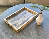 Table Tray, Ottoman Tray, Coffee Table Tray, Serving Tray, Reclaimed Rustic Tray