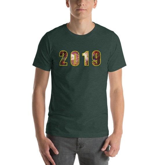 2019 happy happy 2019 New Year fête manches courtes T-Shirt unisexe 08c020