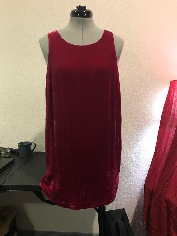 Red red velvet Mod and mini dress