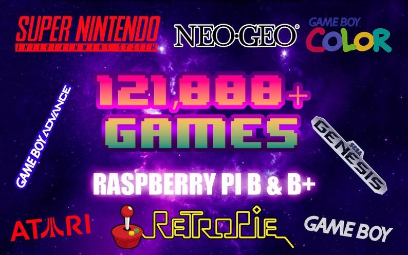 RetroPie 121,000+ Games for Raspberry Pi B & B+ 64GB RetroPie 4 4 MicroSD -  Fully Loaded