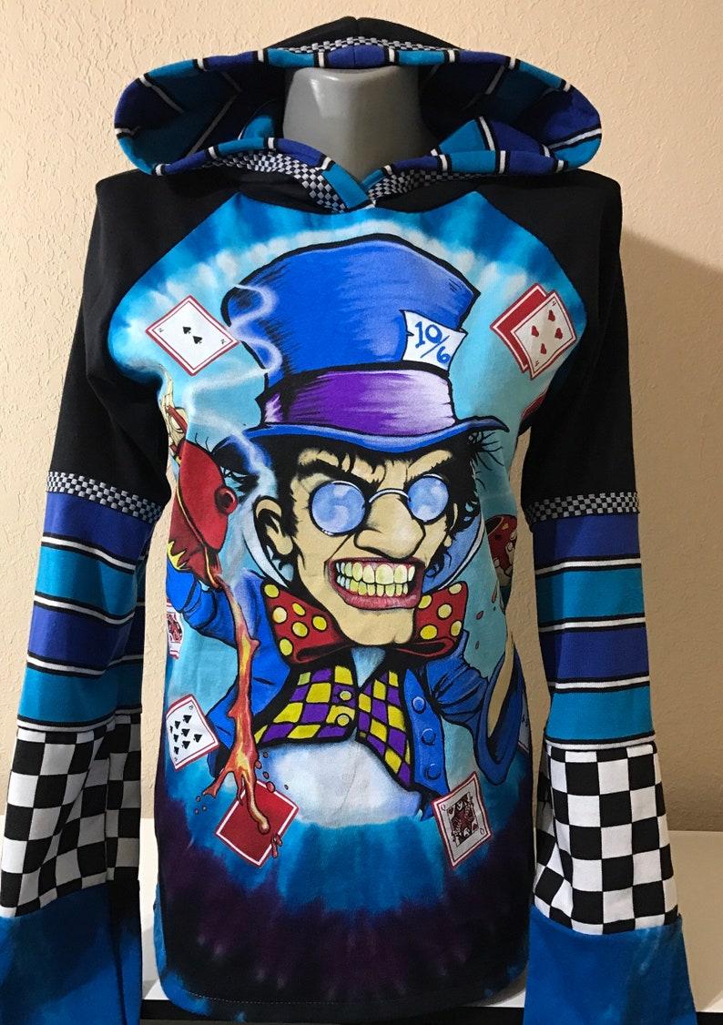 Unique Mad Hatter Alice In Wonderland Hoodie