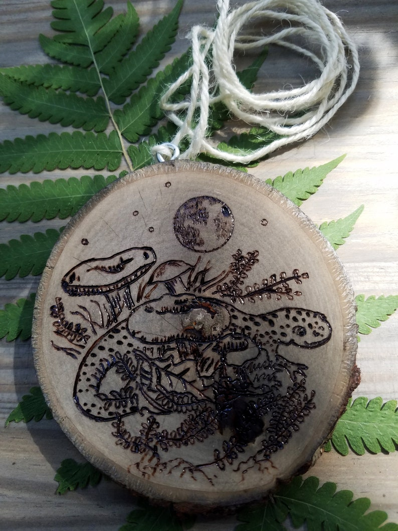 Salamander and Mushrooms under the Moonlight double sided image 0