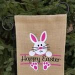 Burlap Garden Flag. Garden Flag. Easter. Burlap Flag. Garden Decor. Bunny. Eggs. Home Decor. Gift for friends. Holiday. Hop hop. Rabbit.