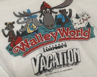 6fab105e029fa 1983 NATIONAL LAMPOON S VACATION Walley World Tee - 80 s Cult Comedy Movie  Fake Destination Souvenir T-Shirt