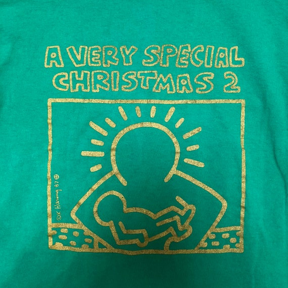A Very Special Christmas.90 S Keith Haring A Very Special Christmas 2 Long Sleeve Tee Green Vintage Band Concert T Shirt
