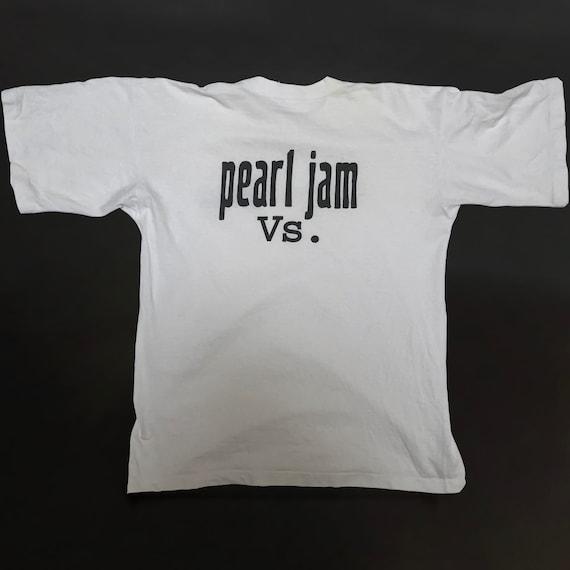90s PEARL JAM VS. Tee - Plain Logo - White - Vinta