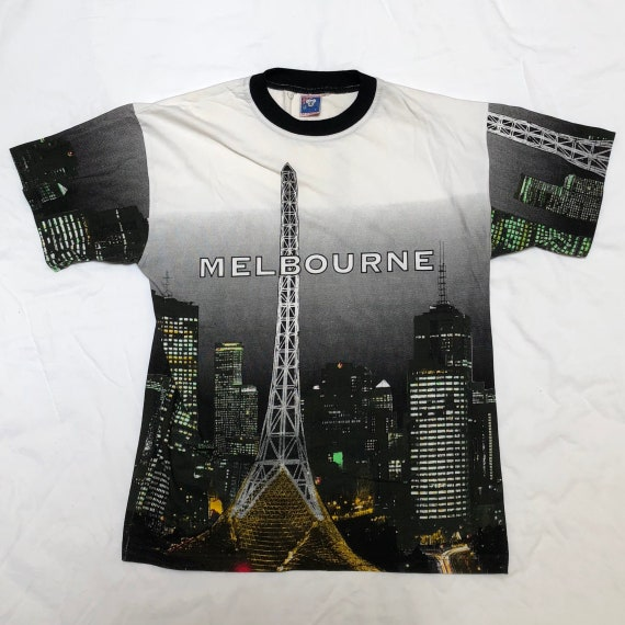 90's MELBOURNE ALL OVER Print Tee - Arts Centre -