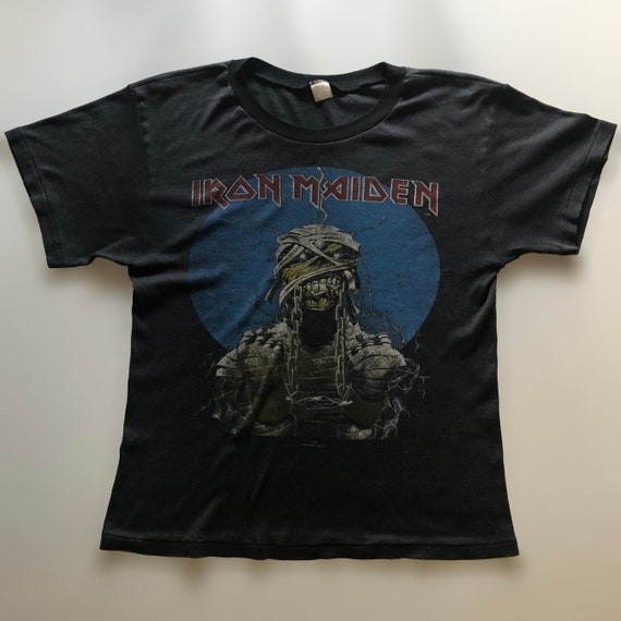 1985 IRON MAIDEN AUSTRALIAN Tour Tee - Black -  Vi