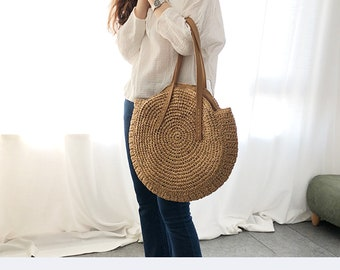 392a7c8e0c straw bag crossbody straw beach bag straw bag strap straw beach tote straw bag  leather handle straw tote