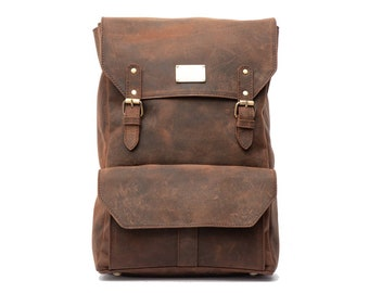 SAND CRAFT Unisex Vintage Backpack Rucksack 17